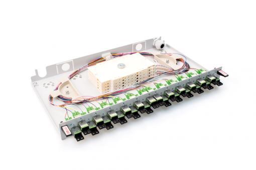 """19"""" Spleißbox 24x E2000 Duplex compact APC OS2 Pigtail"""