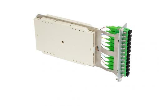 Moduleinschub 12 x SC simplex APC OS2 Pigtails