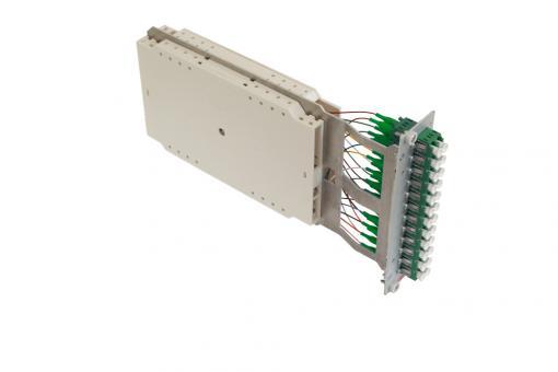 Moduleinschub 12 x LC duplex APC OS2 Pigtails