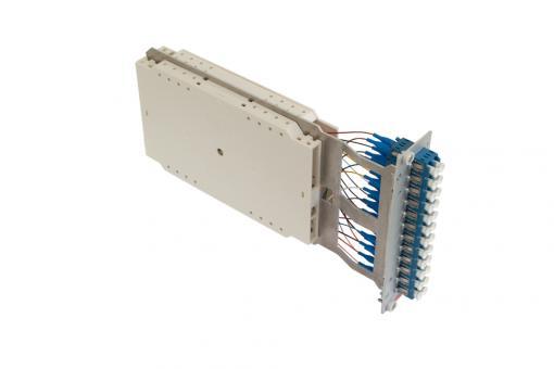 Moduleinschub 12 x LC duplex OS2 Pigtails